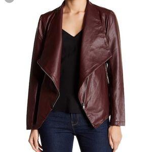 BB Dakota maroon Faux Leather Jacket-S